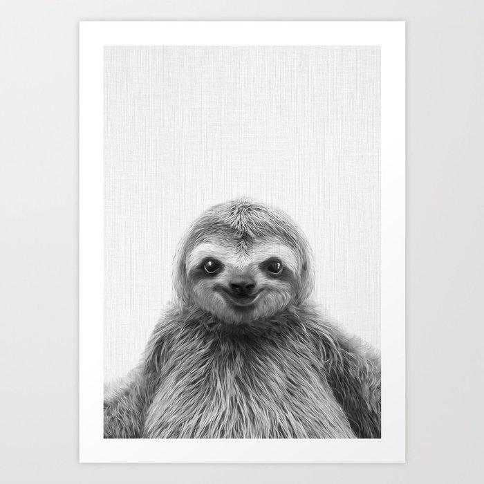 Young Sloth Kunstdrucke