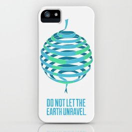 The Unravelling Earth iPhone Case