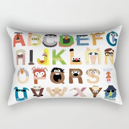 Muppet Alphabet Rectangular Pillow