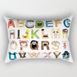 Muppet Alphabet Rectangular Pillow