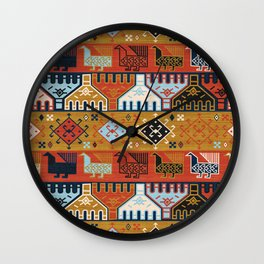 Dena in Red and Gold Wall Clock