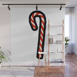 A Candy Cane Wall Mural