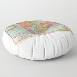 St Paul Missionary Journey in Eastern Roman Empire Floor Pillow