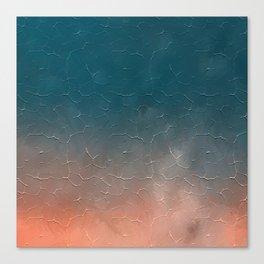 Modern  Textured  Atlantic Blue Abstract Canvas Print