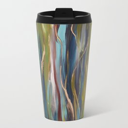 Greenery kale and gold pattern abstract painting Travel Mug
