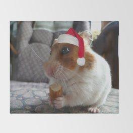 Christmas Hamster Throw Blanket