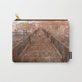Acrylic Sepia Pier Carry-All Pouch