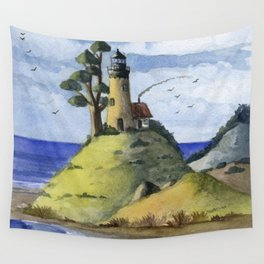 Peaceful Lighthouse IV Wall Tapestry