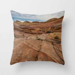 9758 Valley-of-Fire State Park, Nevada Throw Pillow