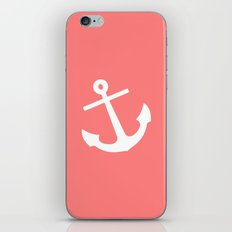 Coral Anchor iPhone & iPod Skin