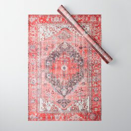 Vintage Anthropologie Farmhouse Traditional Boho Moroccan Style Texture Wrapping Paper