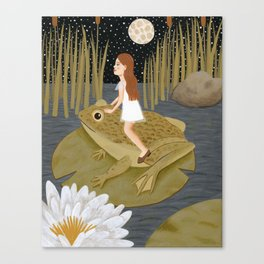 toad in the night Canvas Print