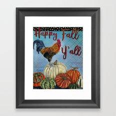 Happy Fall Y'all Framed Art Print