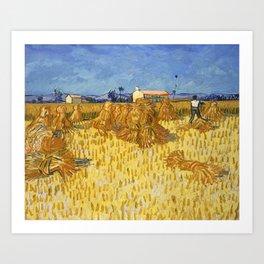 Corn Harvest in Provence by Vincent van Gogh Art Print