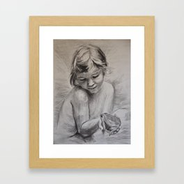 The Fairy and the Frog Framed Art Print