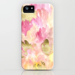 Gold Tulips iPhone Case