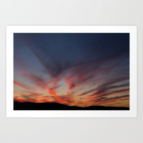 Bleeding sky Art Print