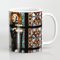 stained glass Mugs featuring Stained glass by Marieken