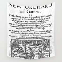 A new orchard and garden 1623 Wall Tapestry