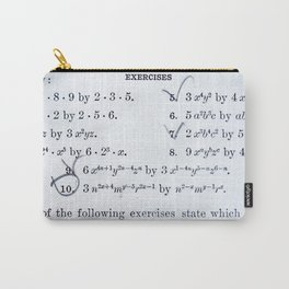 Math Exercizes with Notes Carry-All Pouch