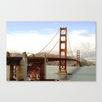 postcard Canvas Prints featuring postcard by Jaina Tharakan