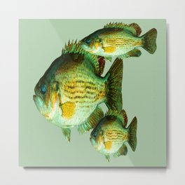 DEEP SEA FISHING GRAPHIC POSTER ART Metal Print