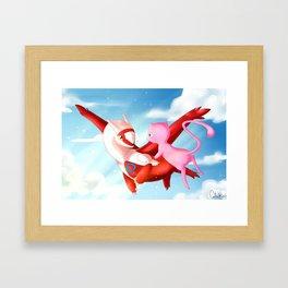 Latias and Mew Framed Art Print