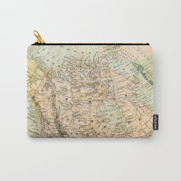 North America Vintage Map Carry-All Pouch