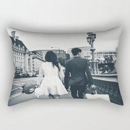 Teddy Bear Tourist Rectangular Pillow