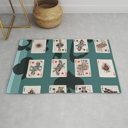 Persian Playing Cards Rug