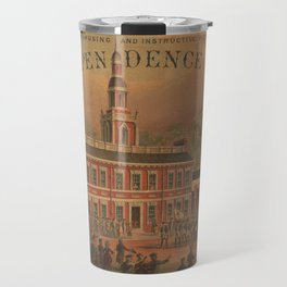 Vintage Independence Hall Illustration (1878) Travel Mug