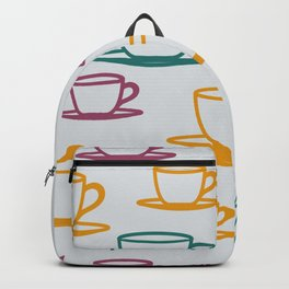 Teacups - multicolored Backpack