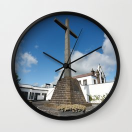 Azorean chapel Wall Clock