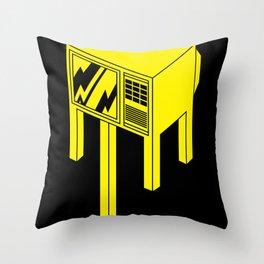 Idiot Box Throw Pillow
