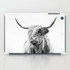 portrait of a highland cow iPad Case