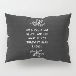 An Apple A Day BW Pillow Sham
