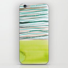 28   |181026 Lines & Color Block | Watercolor Abstract | Modern Watercolor Art iPhone Skin