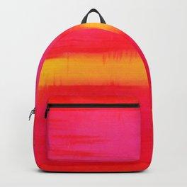 COLOR BLOCK OF HOT PINK & ORANGE Backpack