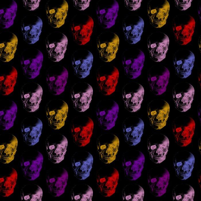 Colorful X-Ray Skulls Pattern Leggings