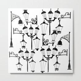 Street lamps Metal Print