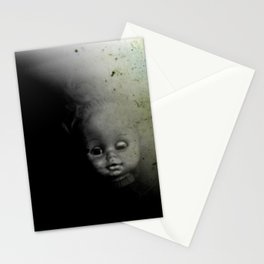 Ghostly Doll Head Stationery Cards