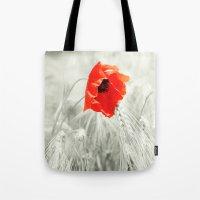 poppy Tote Bags featuring Poppy by Falko Follert Art-FF77
