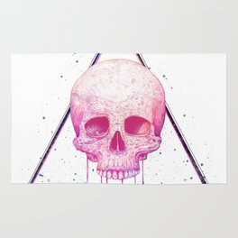 Skull in triangle Rug
