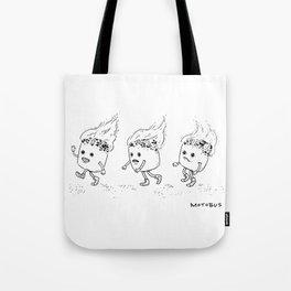Marshmallow Run Tote Bag