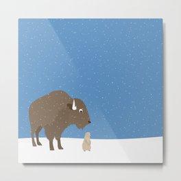 buffalo & prairie dog - I've got you covered Metal Print
