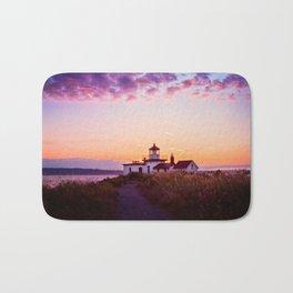 Discovery Park Lighthouse at sunset Bath Mat