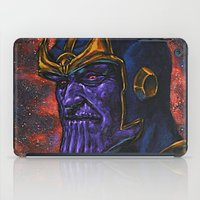 thanos iPad Cases featuring Marvel Thanos Infinity Gauntlet by Adam Worley
