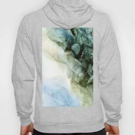 Land and Sky Abstract Landscape Painting Hoody