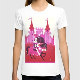 Medieval knight and Castle T-shirt