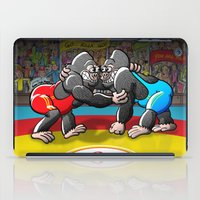 wrestling iPad Cases featuring Olympic Wrestling Gorillas by Zoo&co on Society6 Products